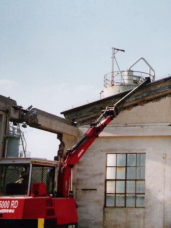 Abbrucharbeiten der Huber Recycling GmbH